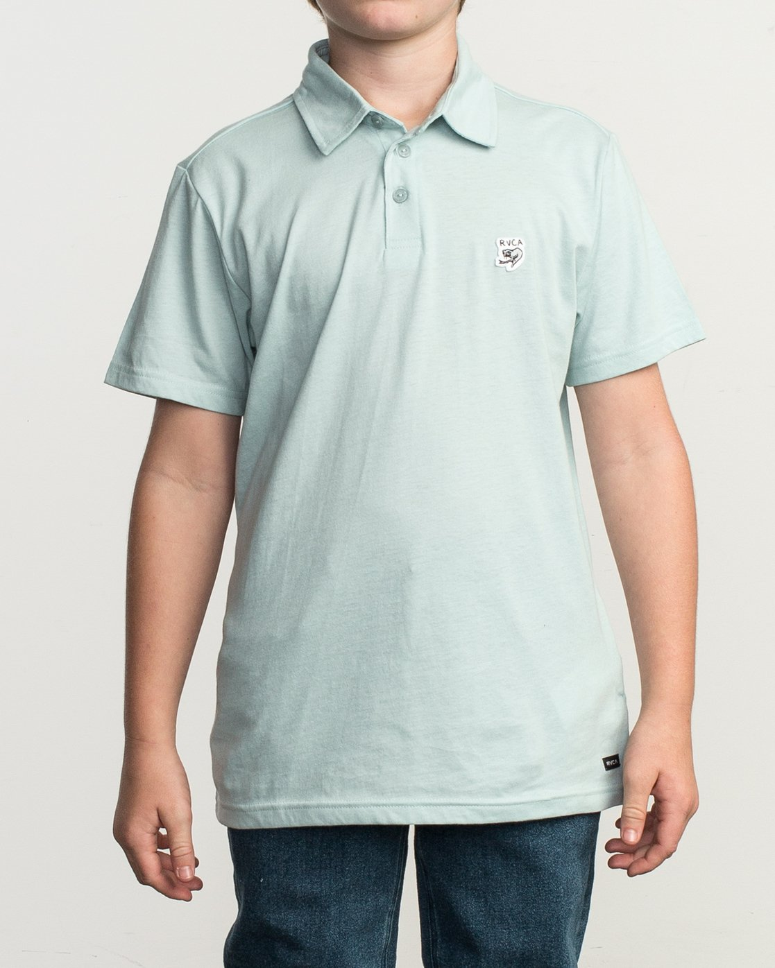 1 Boy's Sure Thing ANP Polo Shirt Blue B915TRSU RVCA