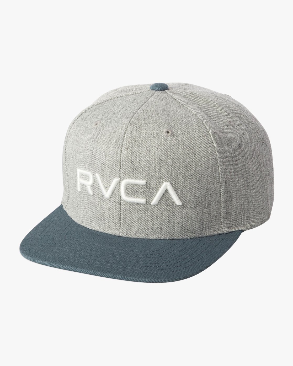 1 Boy's RVCA Twill Snapback III Hat Green BAAHWRTS RVCA