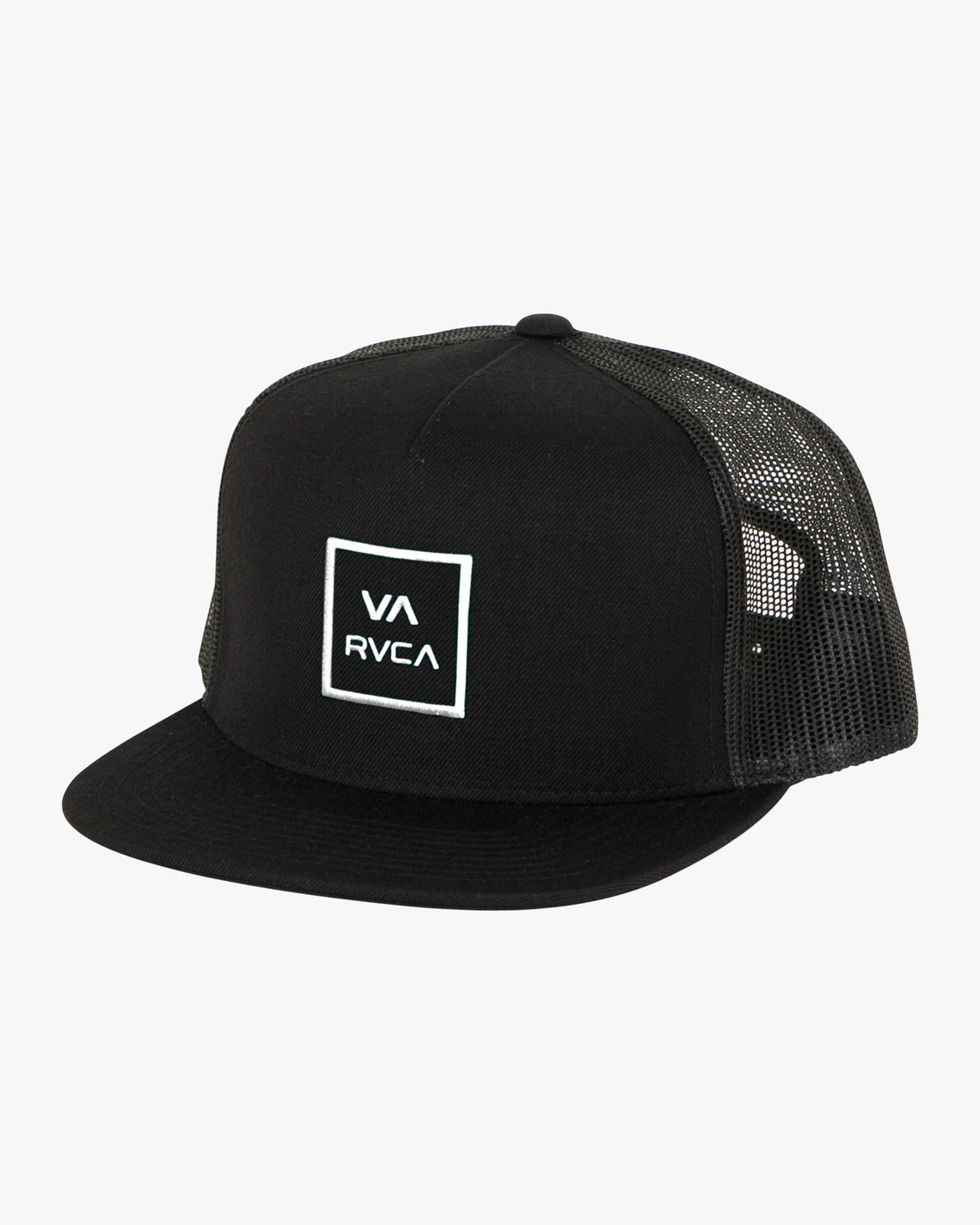 0 Boy's VA All The Way Trucker Hat Black BAAHWVAA RVCA