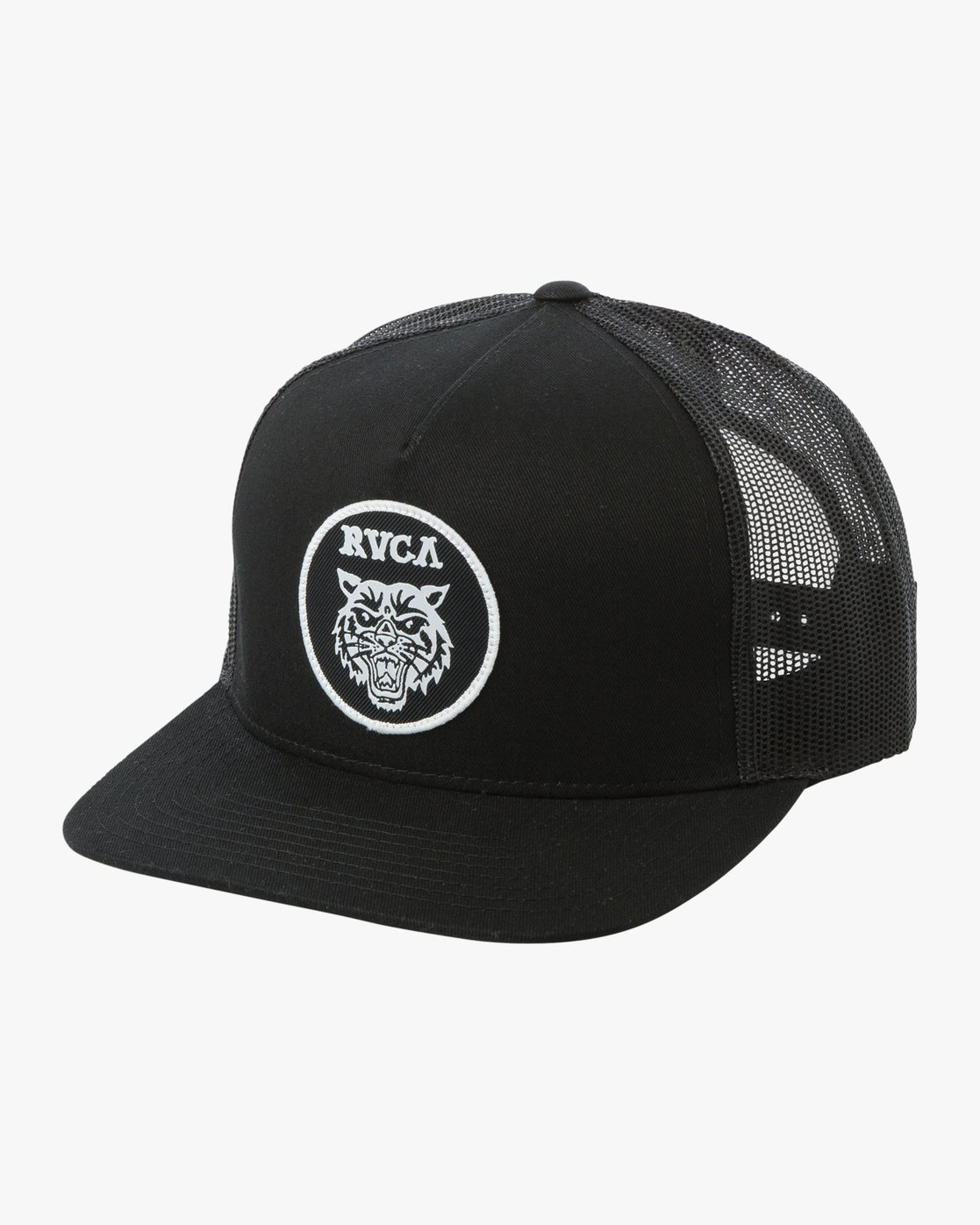 0 Boy's Tiger Patch Trucker Hat  BAHWTRTP RVCA