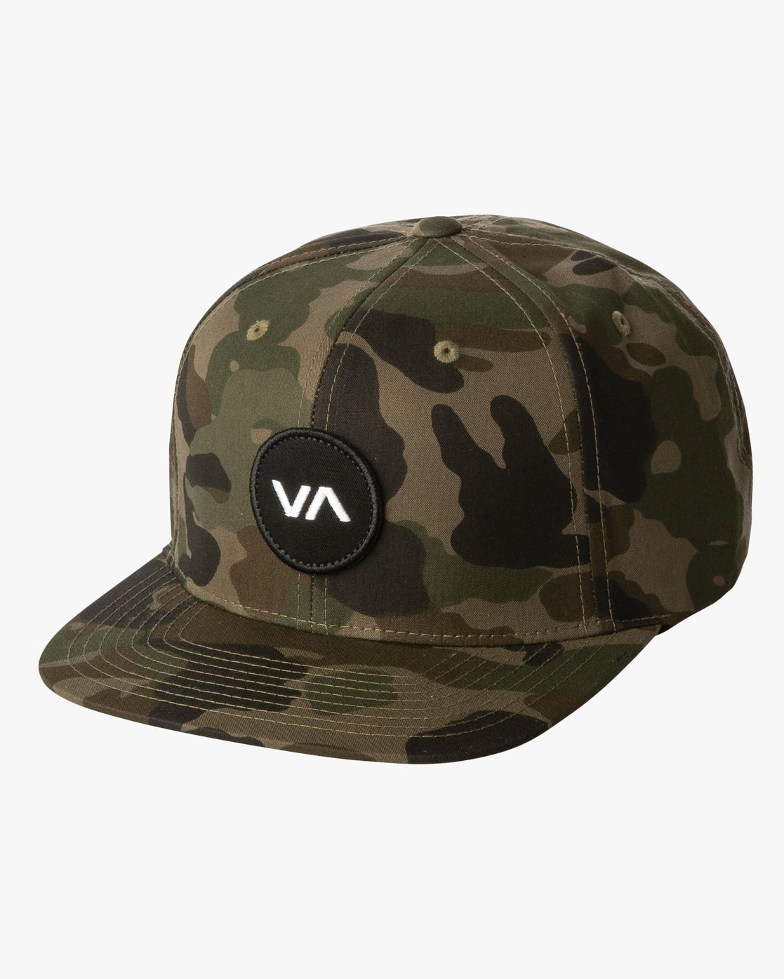 1 Boy's VA Patch Snapback Hat Brown BAHWWRVP RVCA