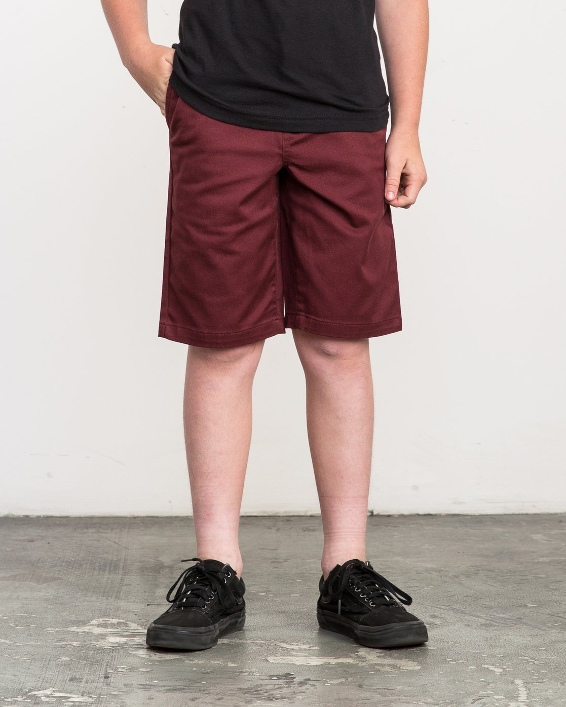 1 Boy's Weekday Stretch Shorts Red BC201WST RVCA