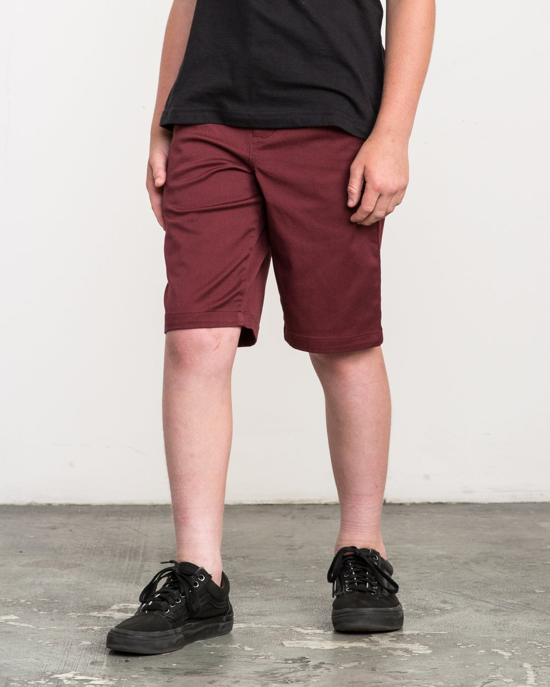 2 Boy's Weekday Stretch Shorts Red BC201WST RVCA