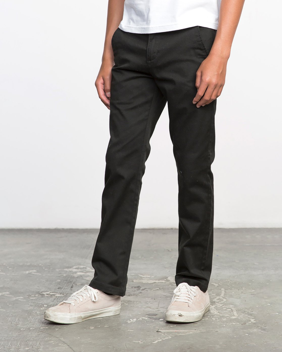 1 Boy's Weekday Stretch Pants Black BC301WDS RVCA