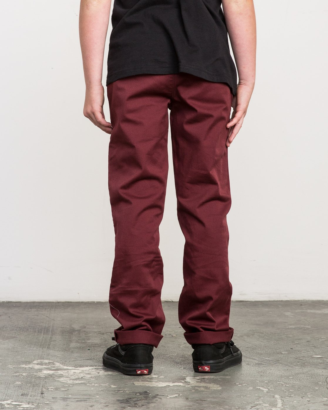 3 Boy's Weekday Stretch Pants Red BC301WDS RVCA