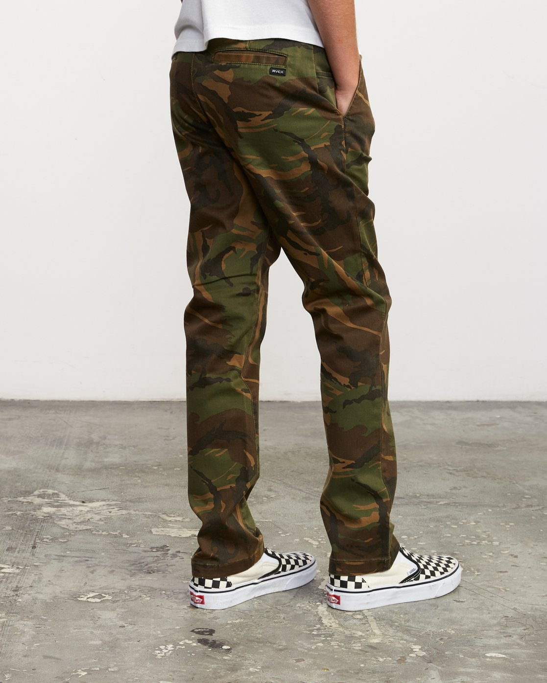 4 Boy's Weekday Stretch Pants Camo BC301WDS RVCA