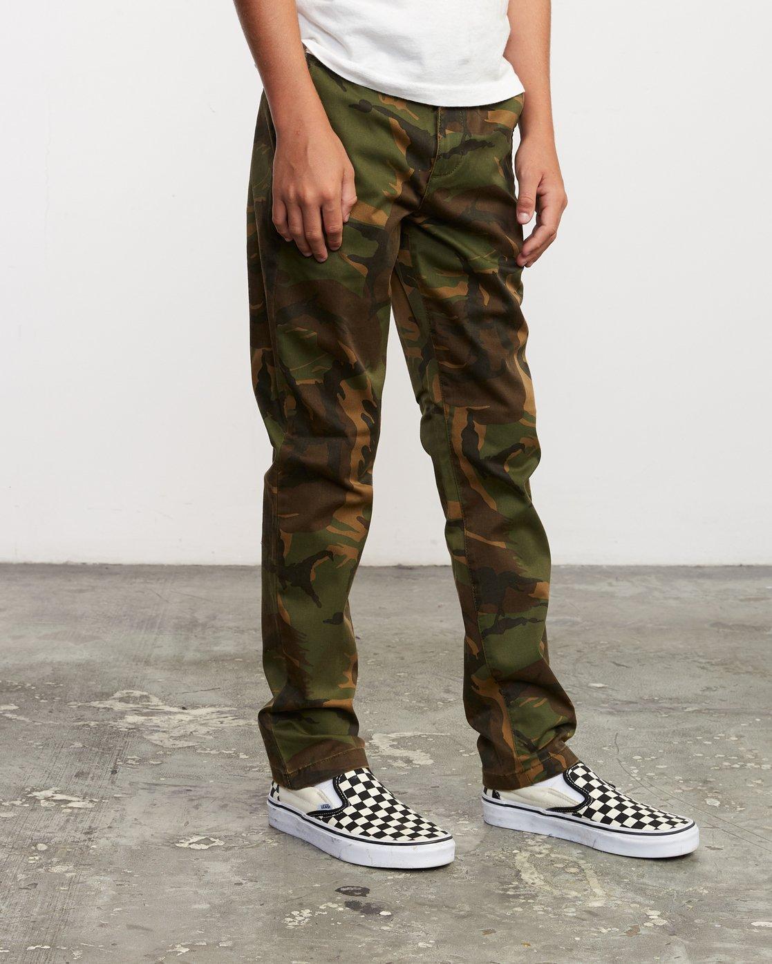 5 Boy's Weekday Stretch Pants Camo BC301WDS RVCA