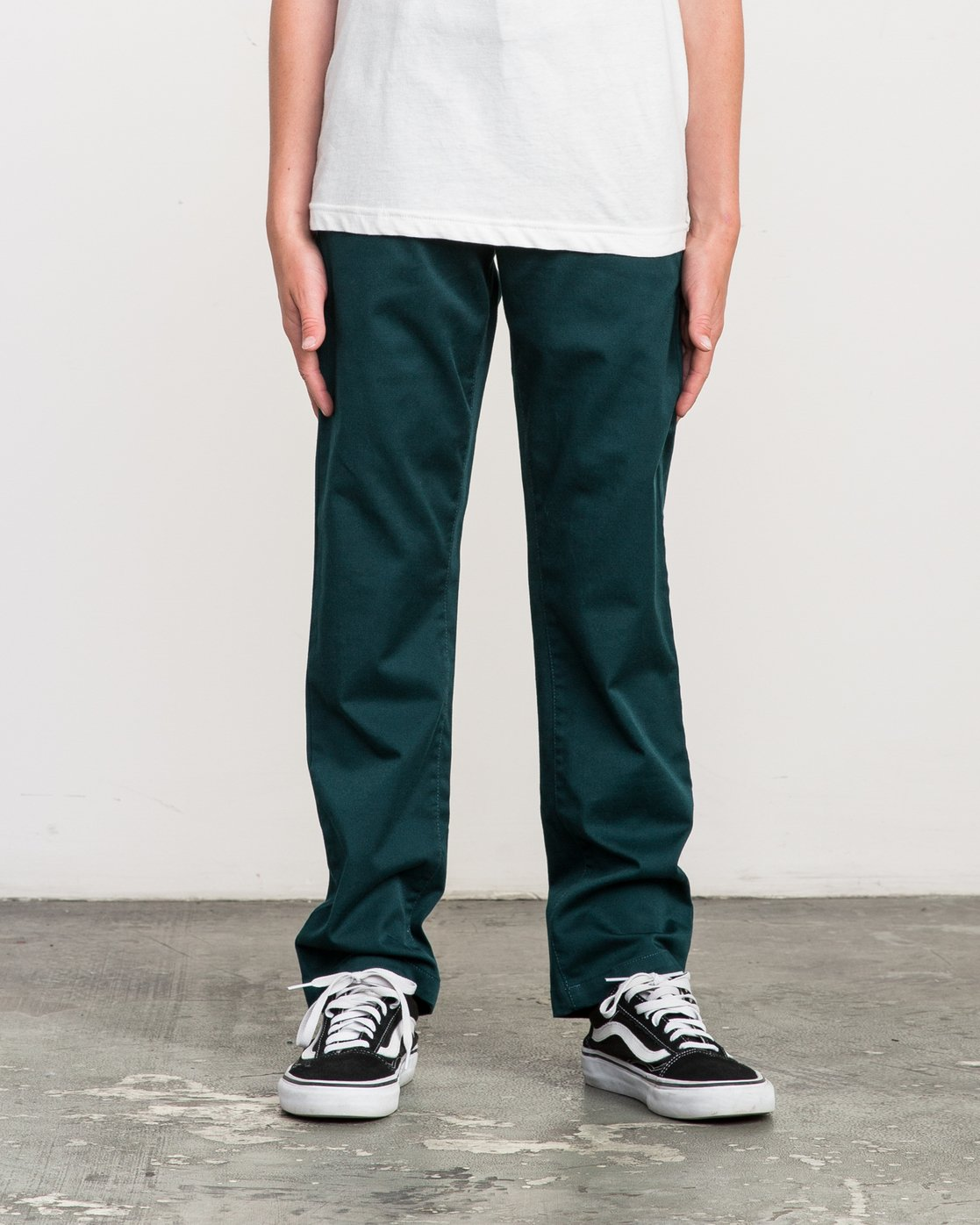 0 Boy's Weekday Stretch Pants Green BC301WDS RVCA