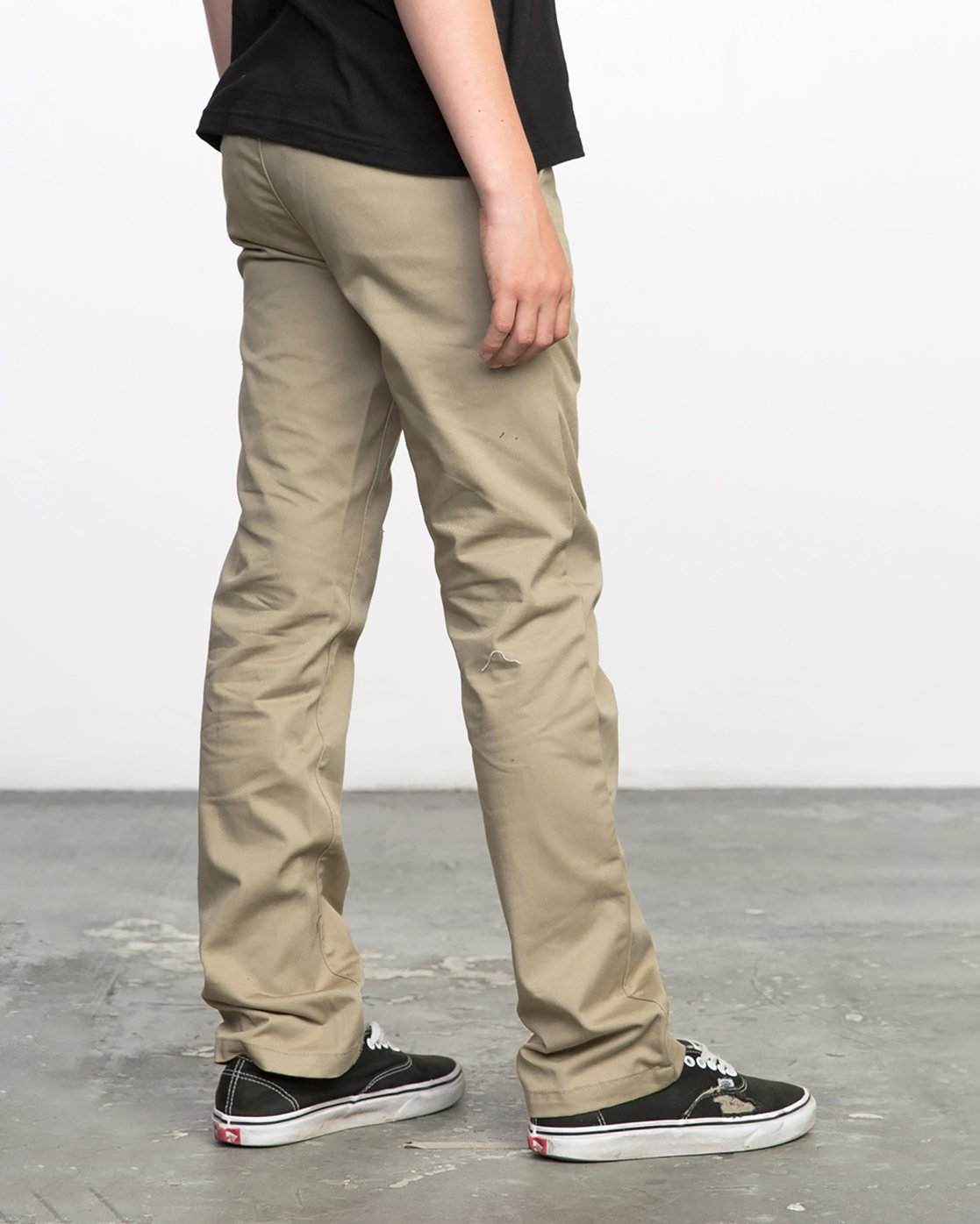 4 BOY'S WEEKDAY STRETCH straight fit PANT Beige BC301WDS RVCA