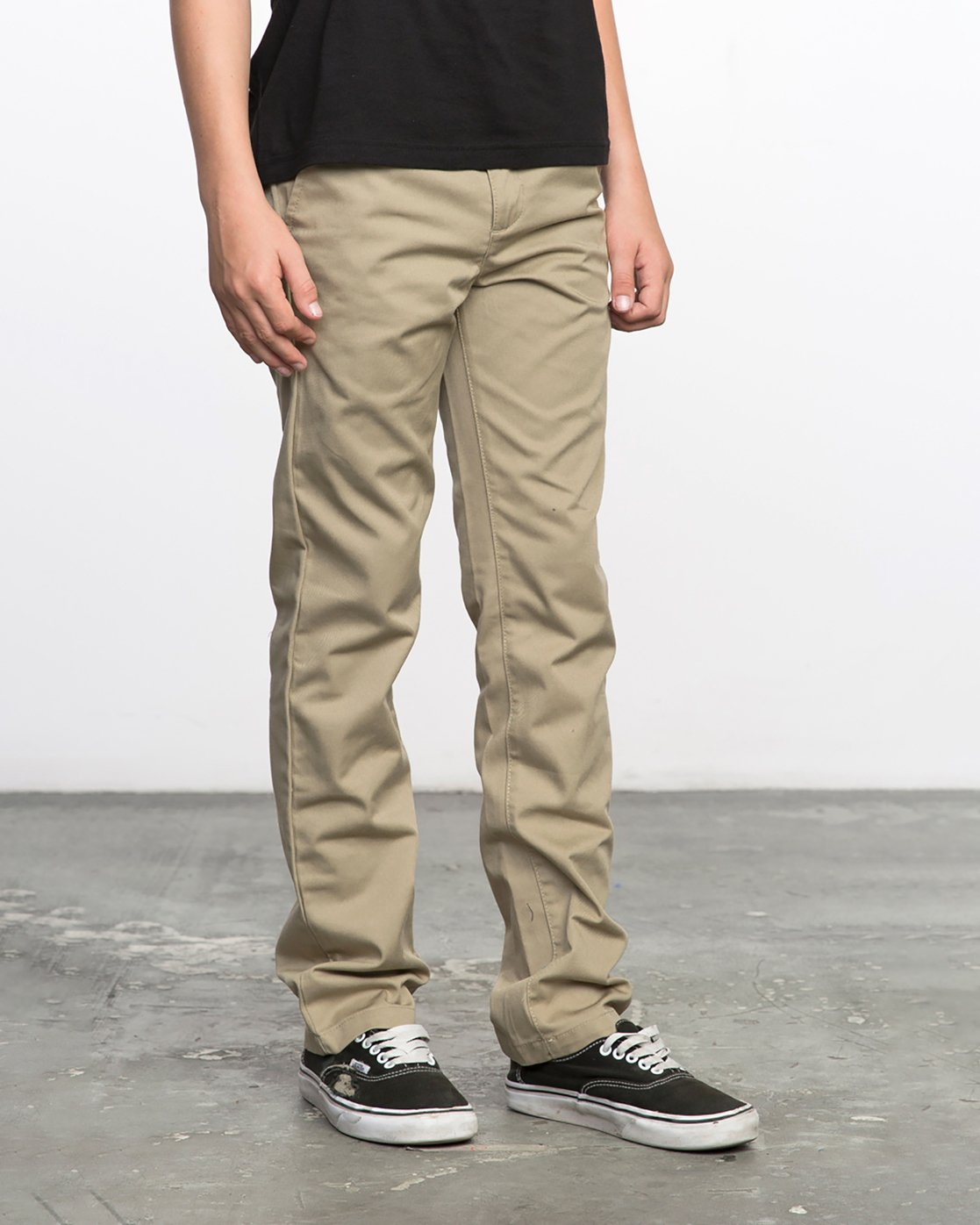 5 BOY'S WEEKDAY STRETCH straight fit PANT Beige BC301WDS RVCA