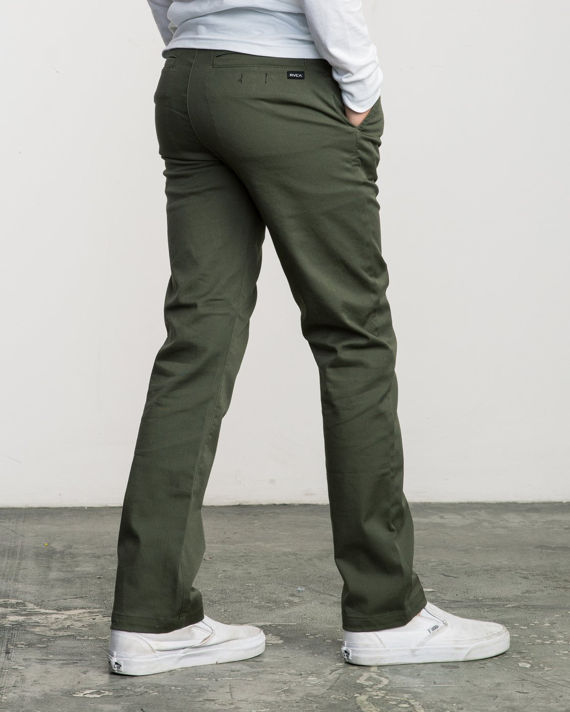 5 Boy's Weekday Stretch Pants Green BC301WDS RVCA