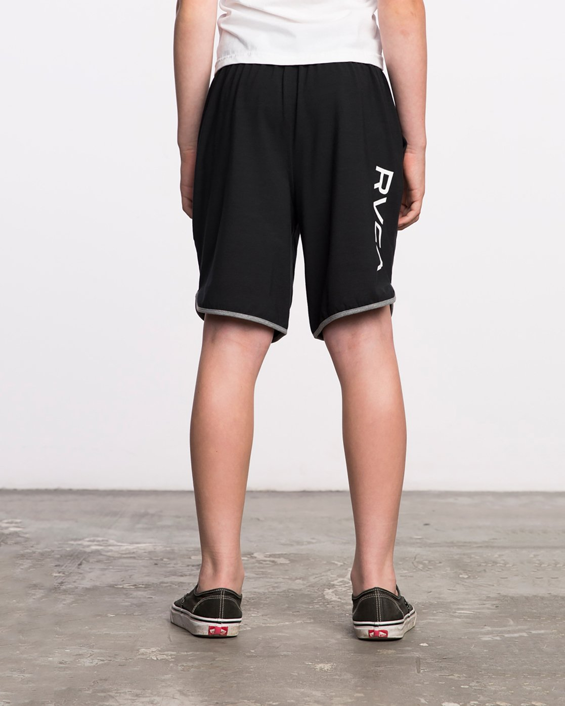 4 Boy's VA Sport Short II Black BL201SPO RVCA