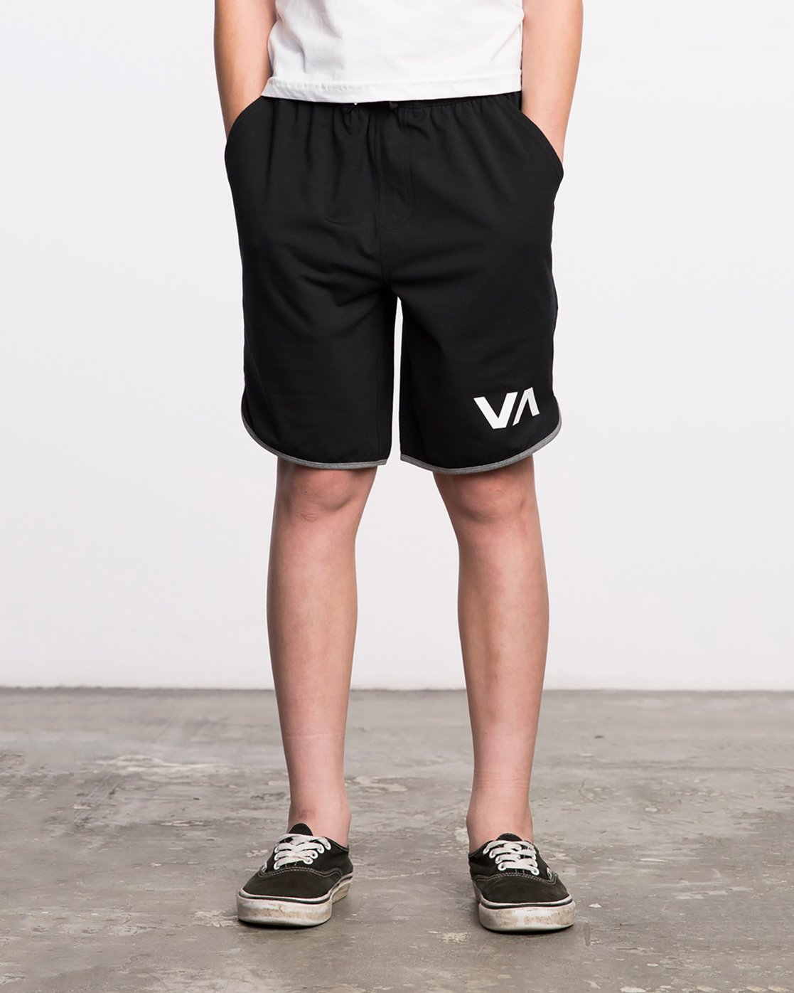 1 Boy's VA Sport Short II Black BL201SPO RVCA
