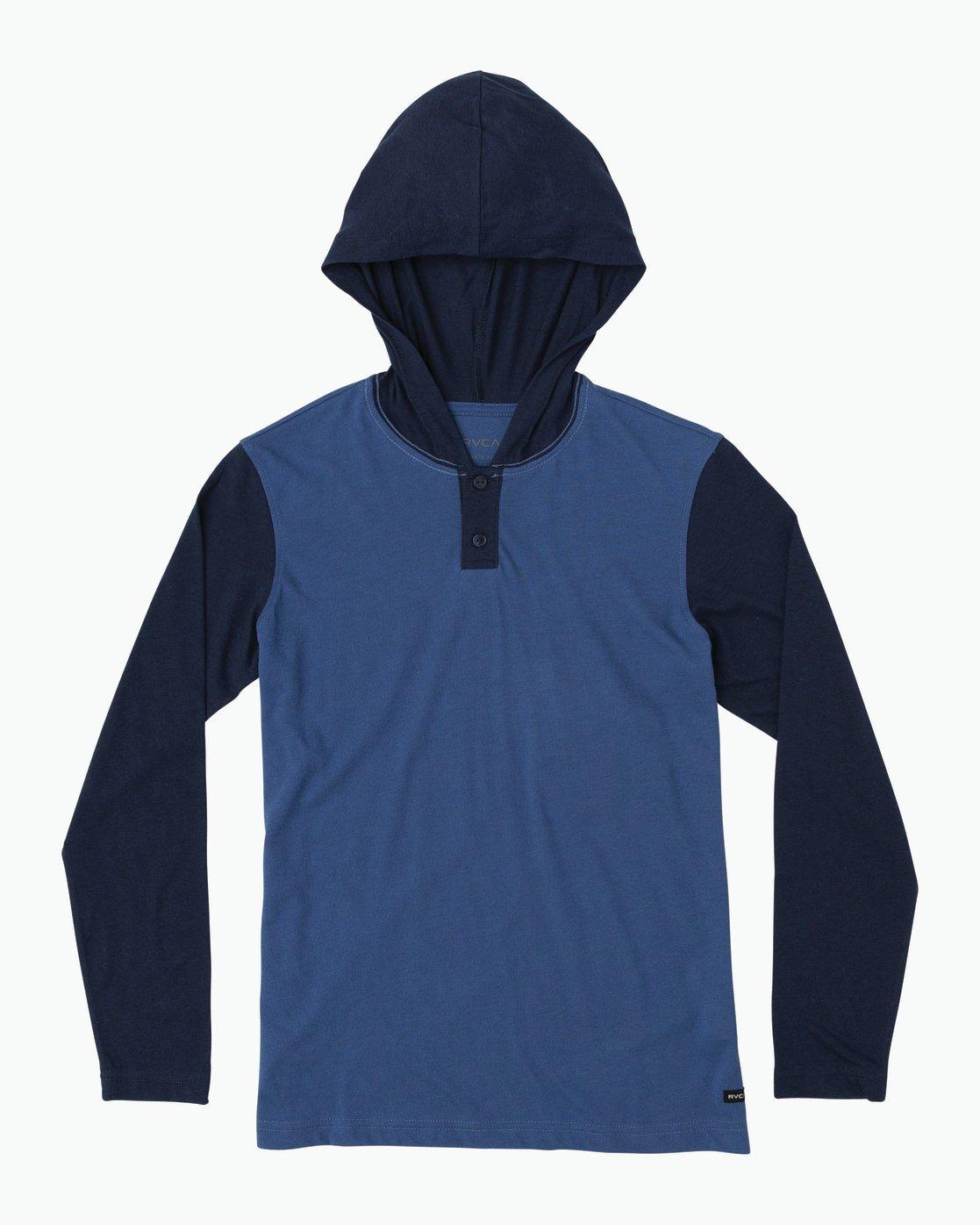 0 Boy's Pick Up Knit Hoodie Blue BL904PUH RVCA