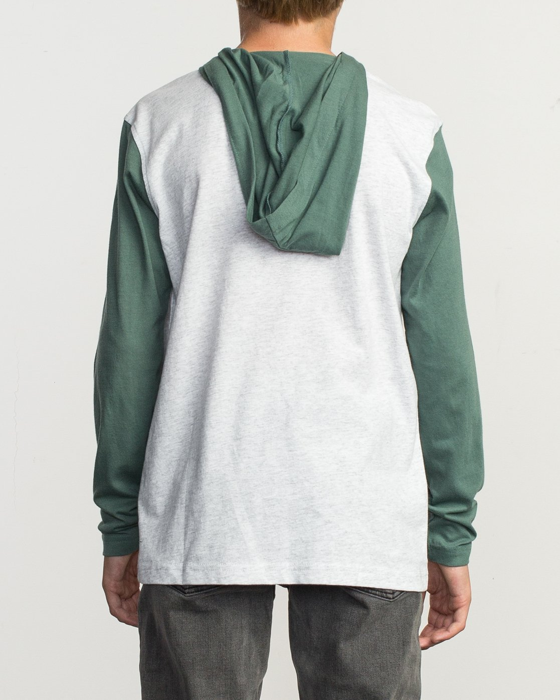 3 Boy's Pick Up Knit Hoodie Green BL904PUH RVCA