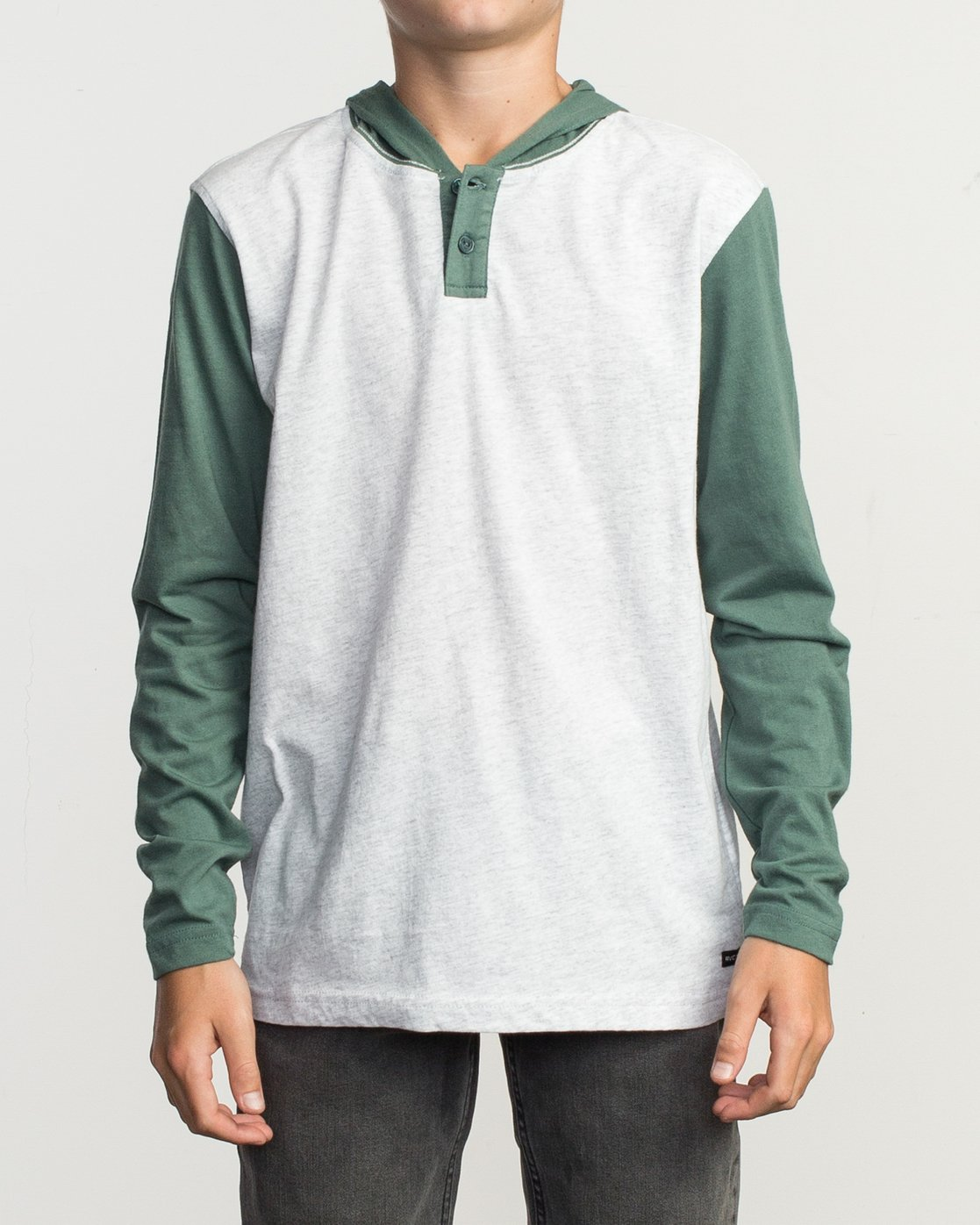 1 Boy's Pick Up Knit Hoodie Green BL904PUH RVCA