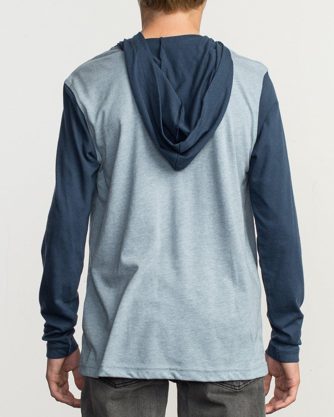 3 Boy's Pick Up Knit Hoodie Blue BL904PUH RVCA