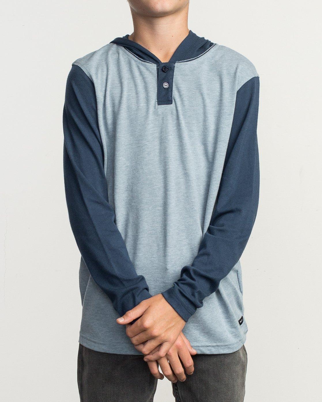 1 Boy's Pick Up Knit Hoodie Blue BL904PUH RVCA