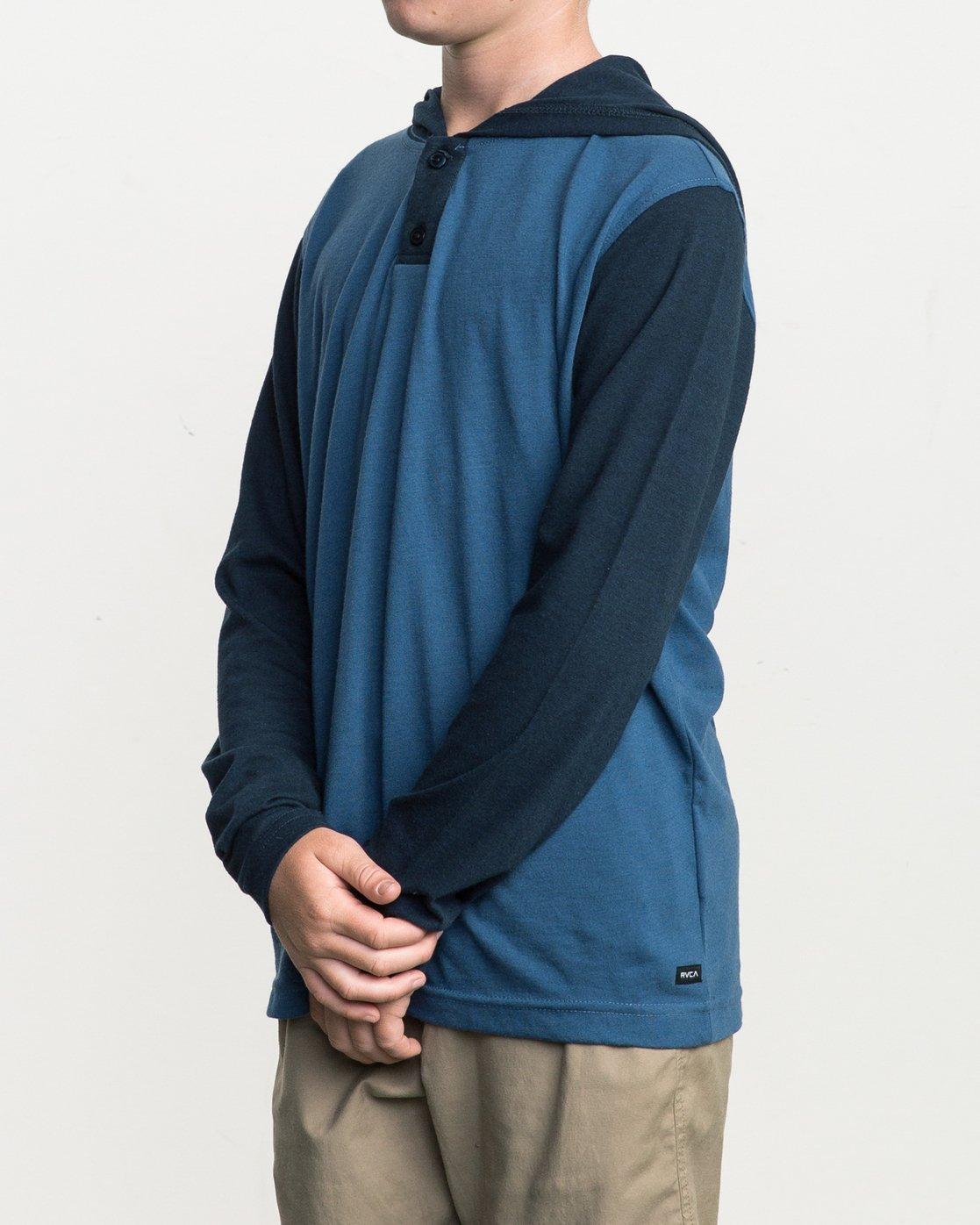 2 Boy's Pick Up Knit Hoodie Blue BL904PUH RVCA