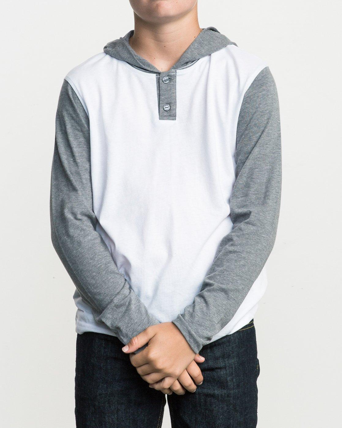 1 Boy's Pick Up Knit Hoodie White BL904PUH RVCA