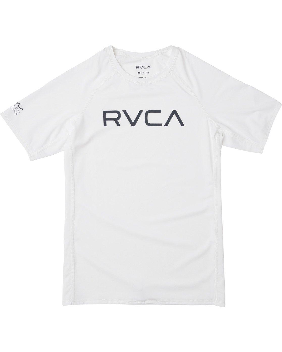 0 Boys RVCA Short Sleeve Rashguard White BR10TRSR RVCA
