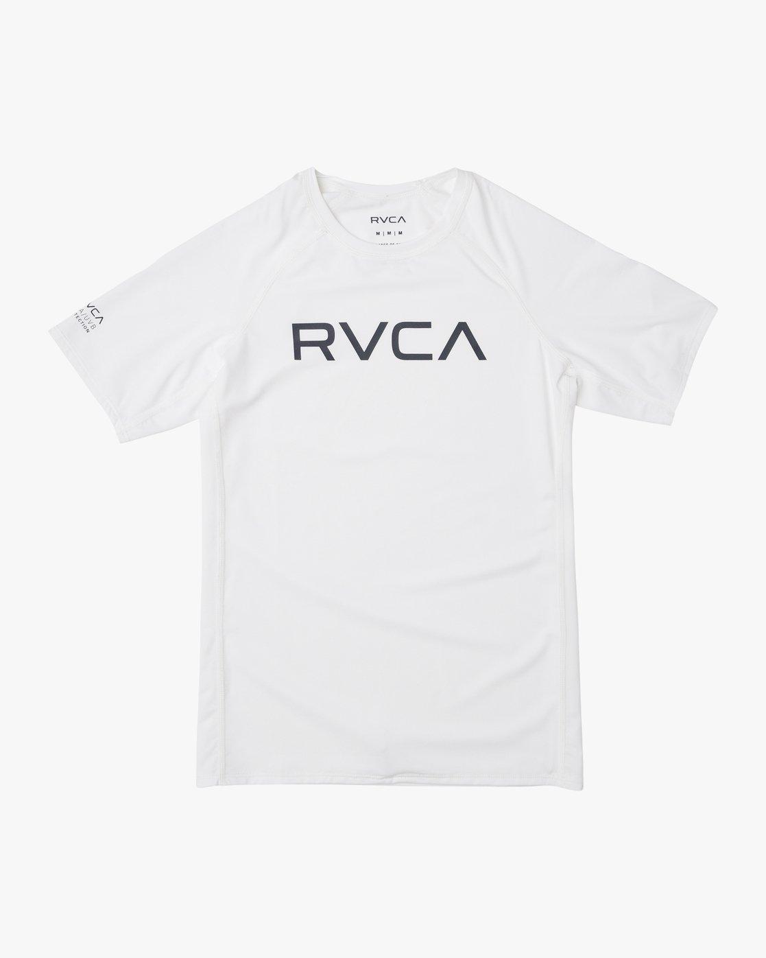 1 Boys RVCA Short Sleeve Rashguard White BR10TRSR RVCA