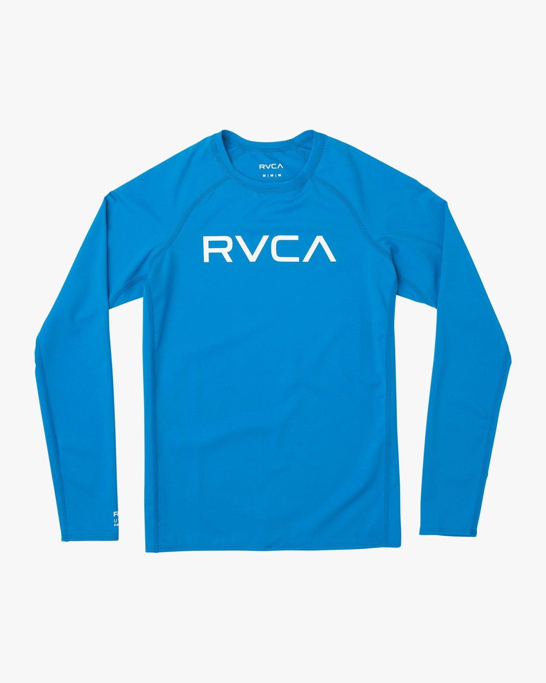 1 Boys RVCA Long Sleeve Rashguard Blue BR11TRLR RVCA