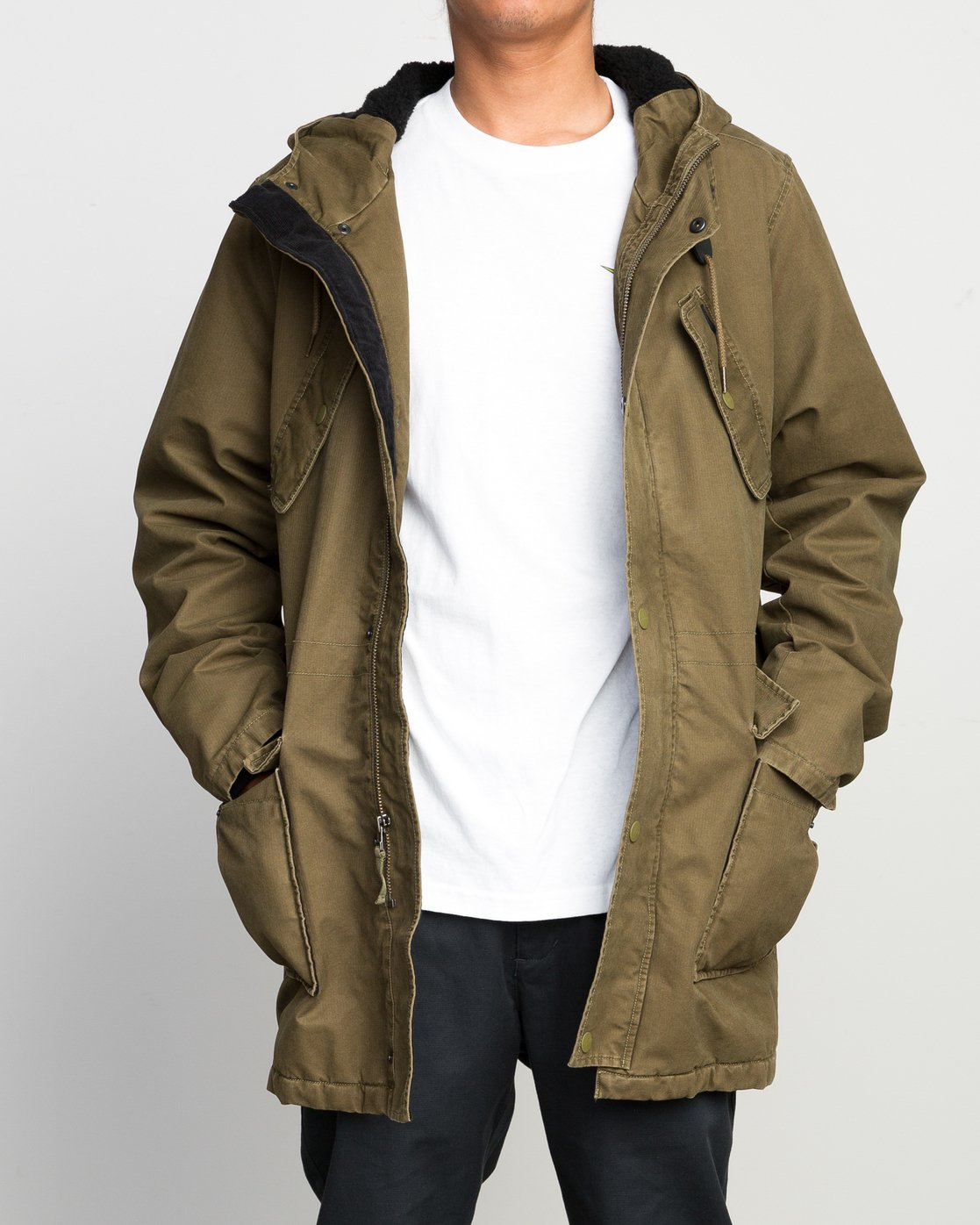1 GROUND CONTROL PARKA  F1JKRJRVF7 RVCA