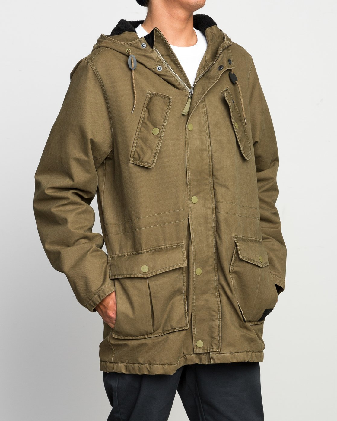 3 GROUND CONTROL PARKA  F1JKRJRVF7 RVCA