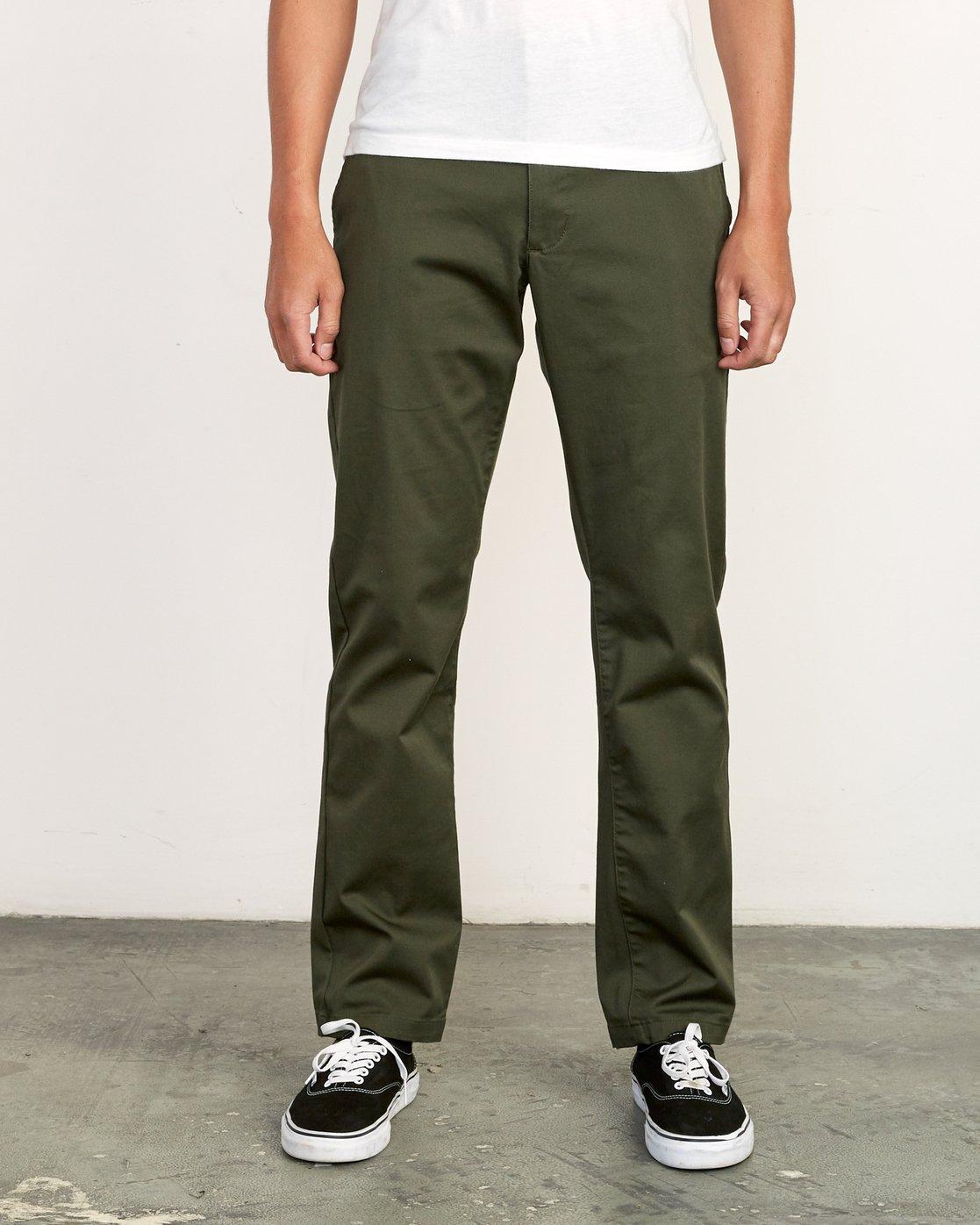 0 Weekend Stretch  - Pantalones para Hombre Verde F1PTRARVF7 RVCA