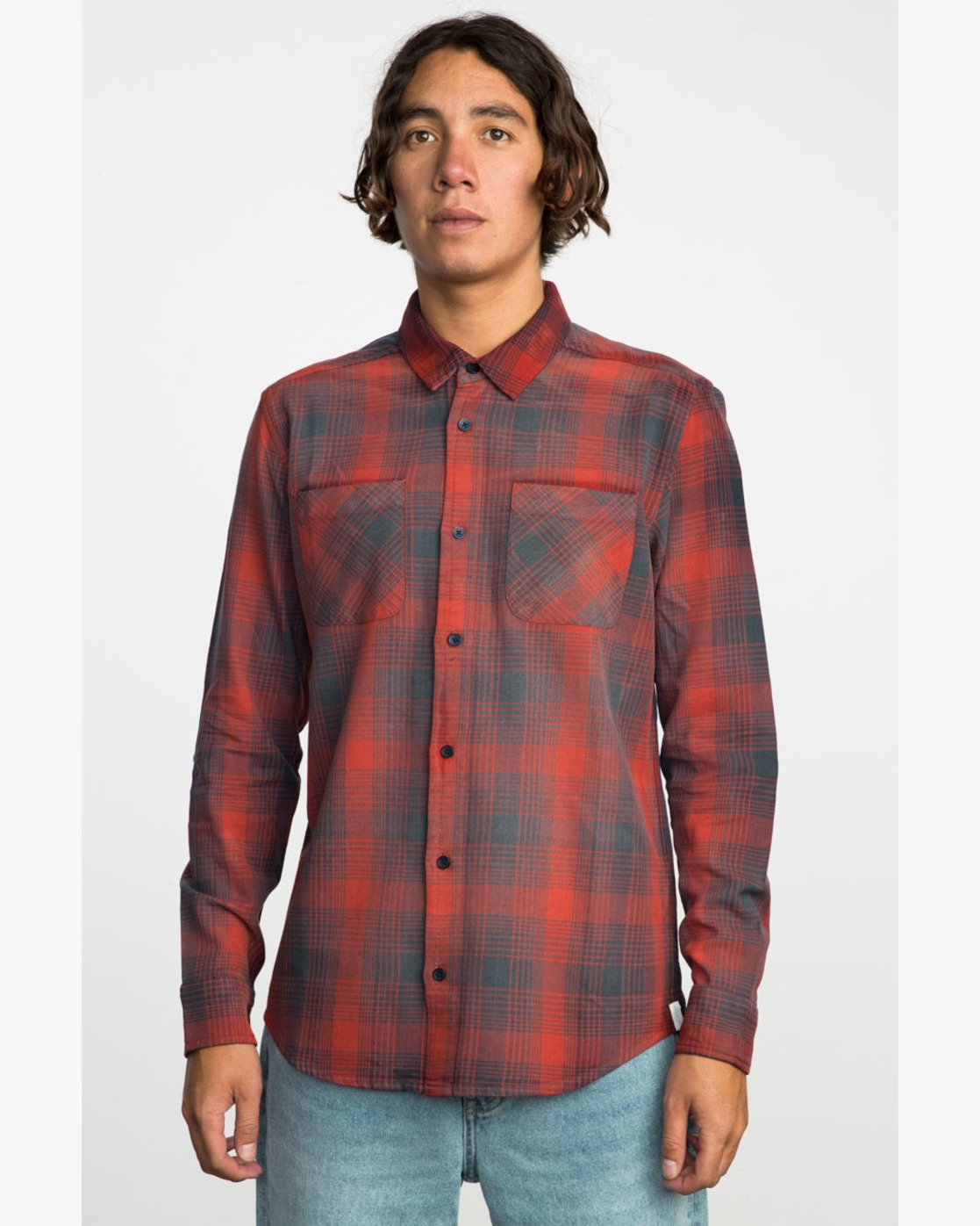 1 NEUTRAL PLAID LS  F1SHRNRVF7 RVCA