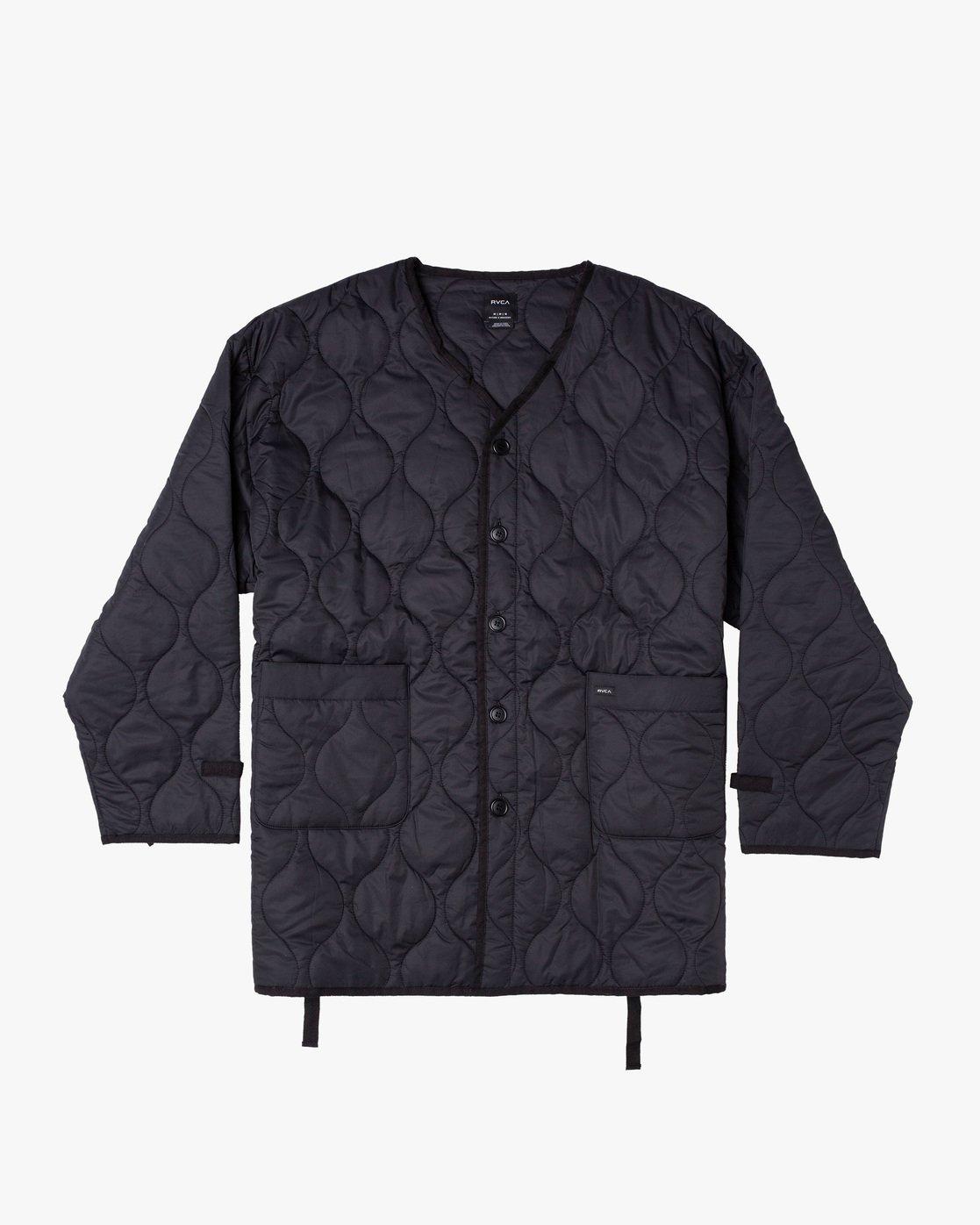 0 Linning Quilting Jacket Black GVYJK00100 RVCA