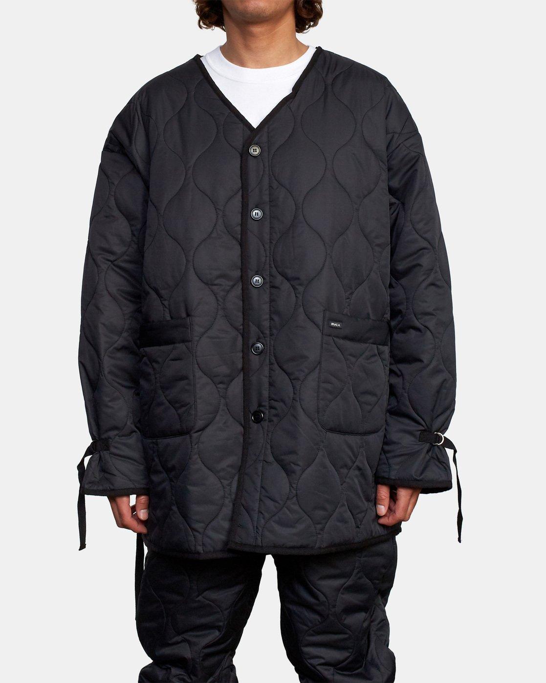 2 Linning Quilting Jacket Black GVYJK00100 RVCA