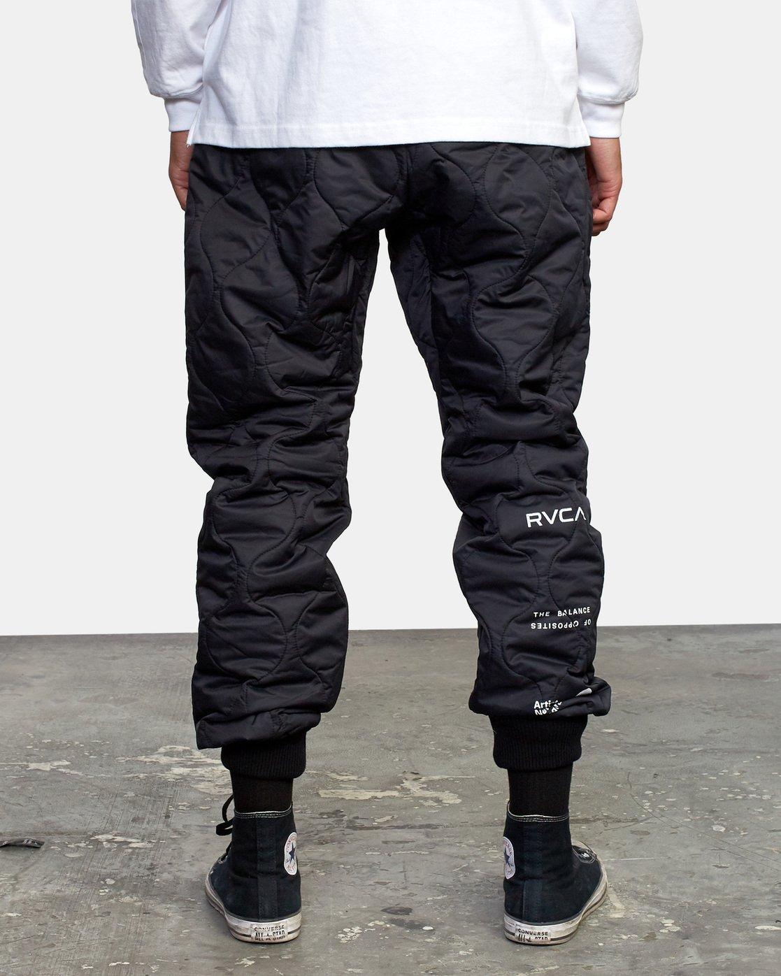 3 Quilting Swift Pant Black GVYNP00100 RVCA