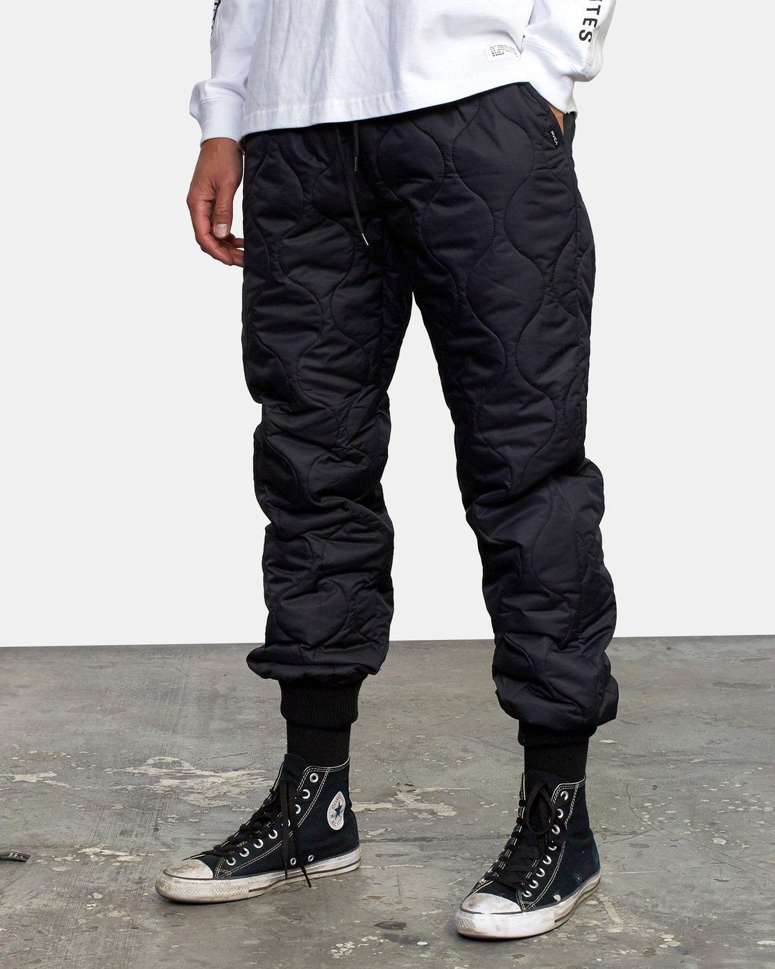 4 Quilting Swift Pant Black GVYNP00100 RVCA