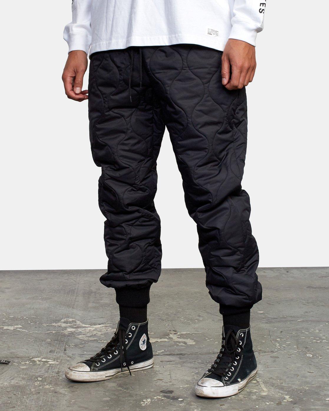 5 Quilting Swift Pant Black GVYNP00100 RVCA