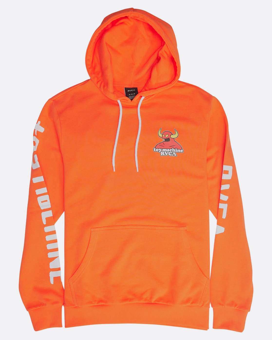 0 SMALL TOY MACHINE HOODIE Orange H1HOTBRVP8 RVCA