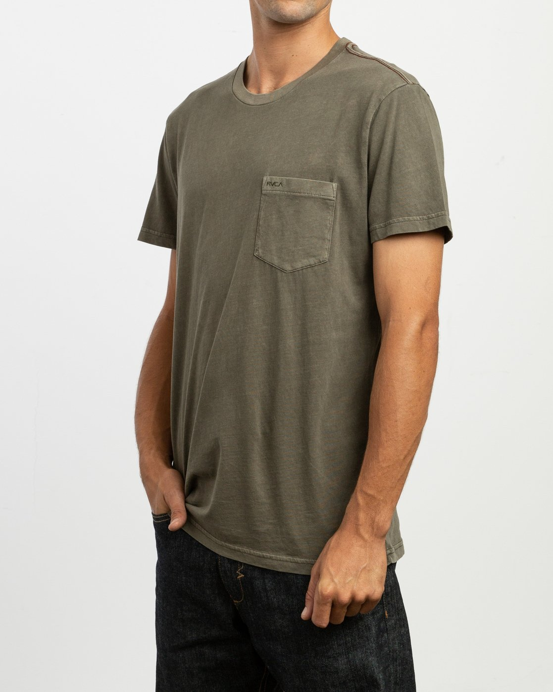 2 PTC 2 Pigment - T-Shirt pour Homme Vert H1KTRCRVP8 RVCA