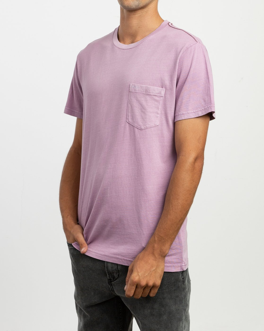2 Ptc 2 Pigment Knit Top Purple H1KTRCRVP8 RVCA