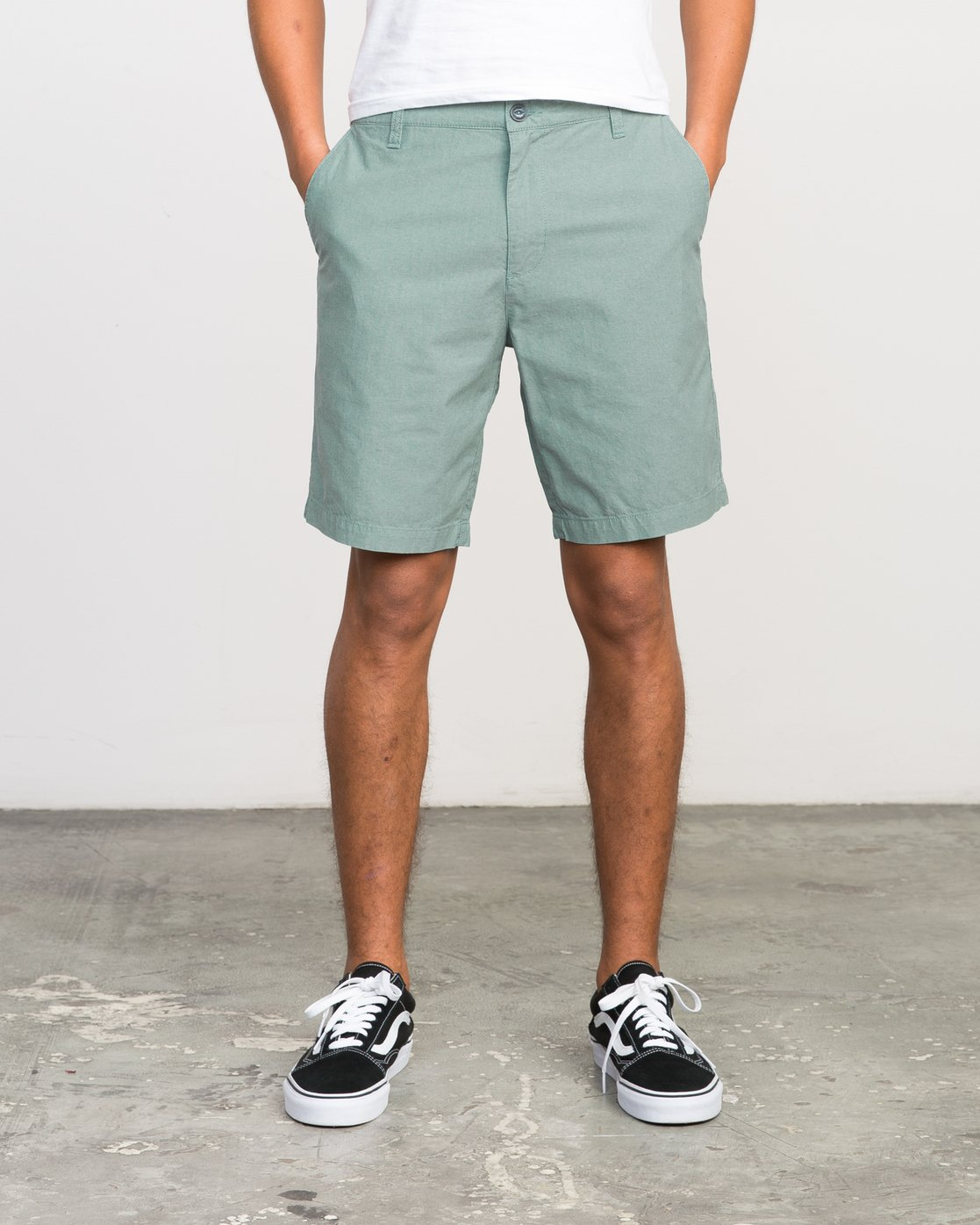 "1 That'Ll Walk Oxford 19"" Walkshorts Green H1WKRXRVP8 RVCA"