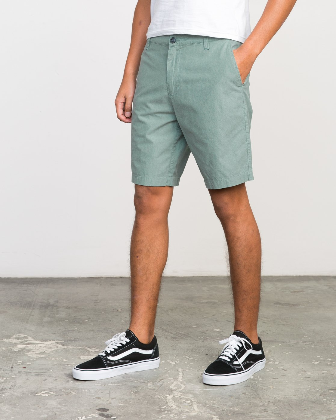 "2 That'Ll Walk Oxford 19"" Walkshorts Green H1WKRXRVP8 RVCA"