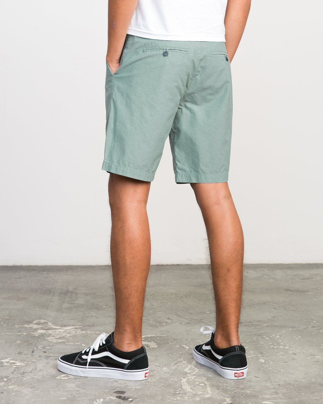 "3 That'Ll Walk Oxford 19"" Walkshorts Green H1WKRXRVP8 RVCA"