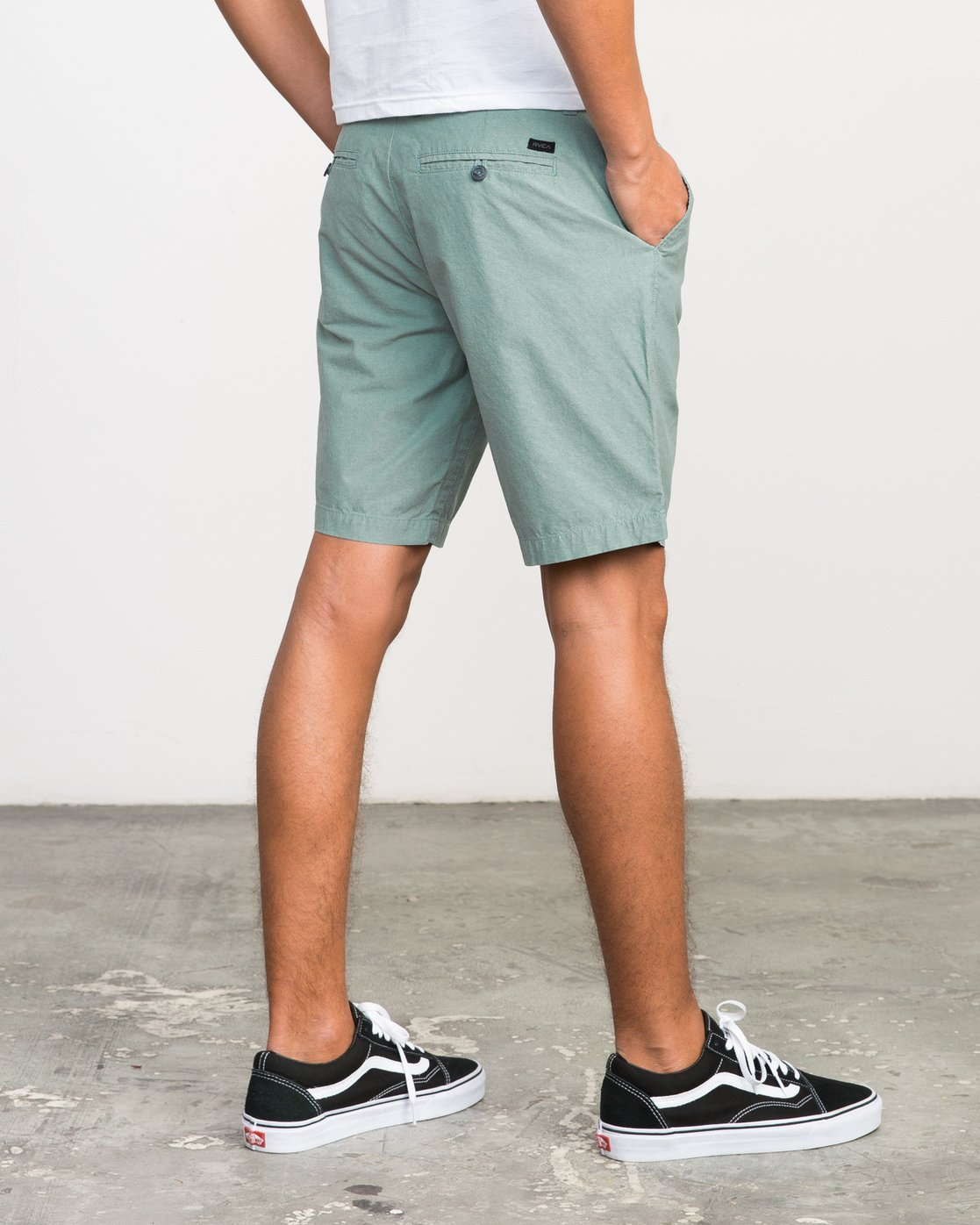 "5 That'll Walk Oxford - 19"" Walkshorts for Men Grün H1WKRXRVP8 RVCA"