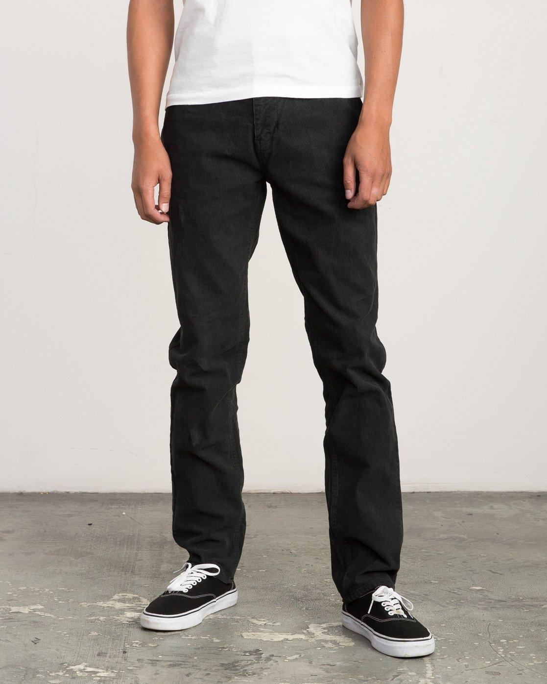 0 Campbell Bros Daggers Pigment - Corduroy Denim Trousers for Men Schwarz L1PNRDRVF8 RVCA