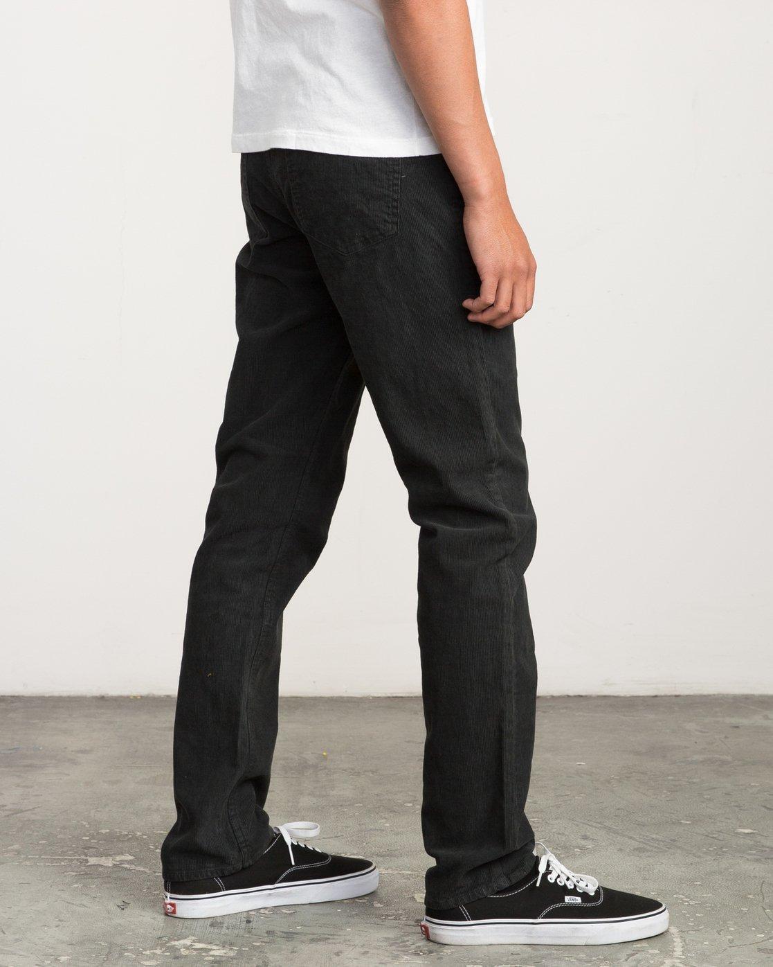 3 Campbell Bros Daggers Pigment - Corduroy Denim Trousers for Men Black L1PNRDRVF8 RVCA