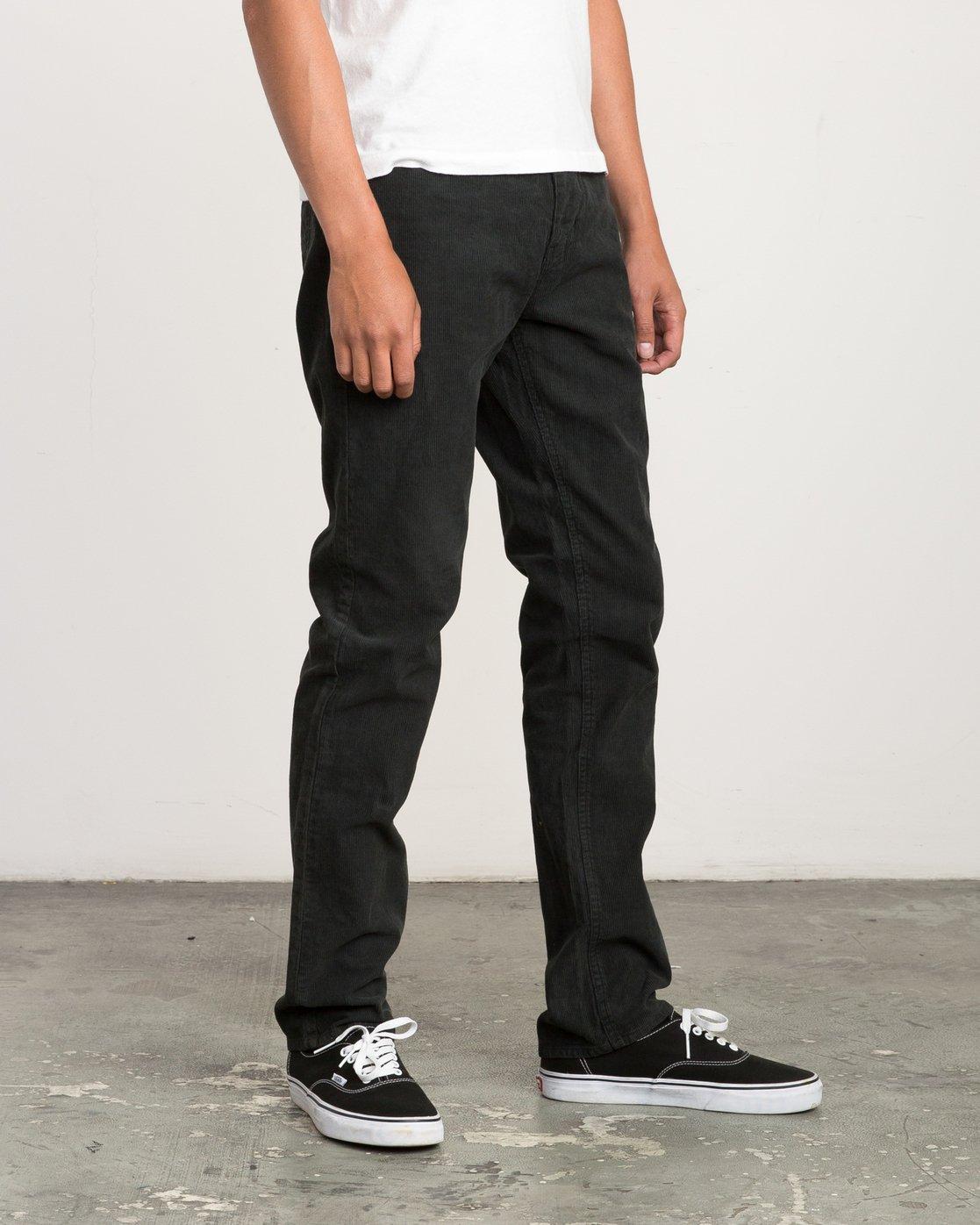 4 Campbell Bros Daggers Pigment - Corduroy Denim Trousers for Men Black L1PNRDRVF8 RVCA