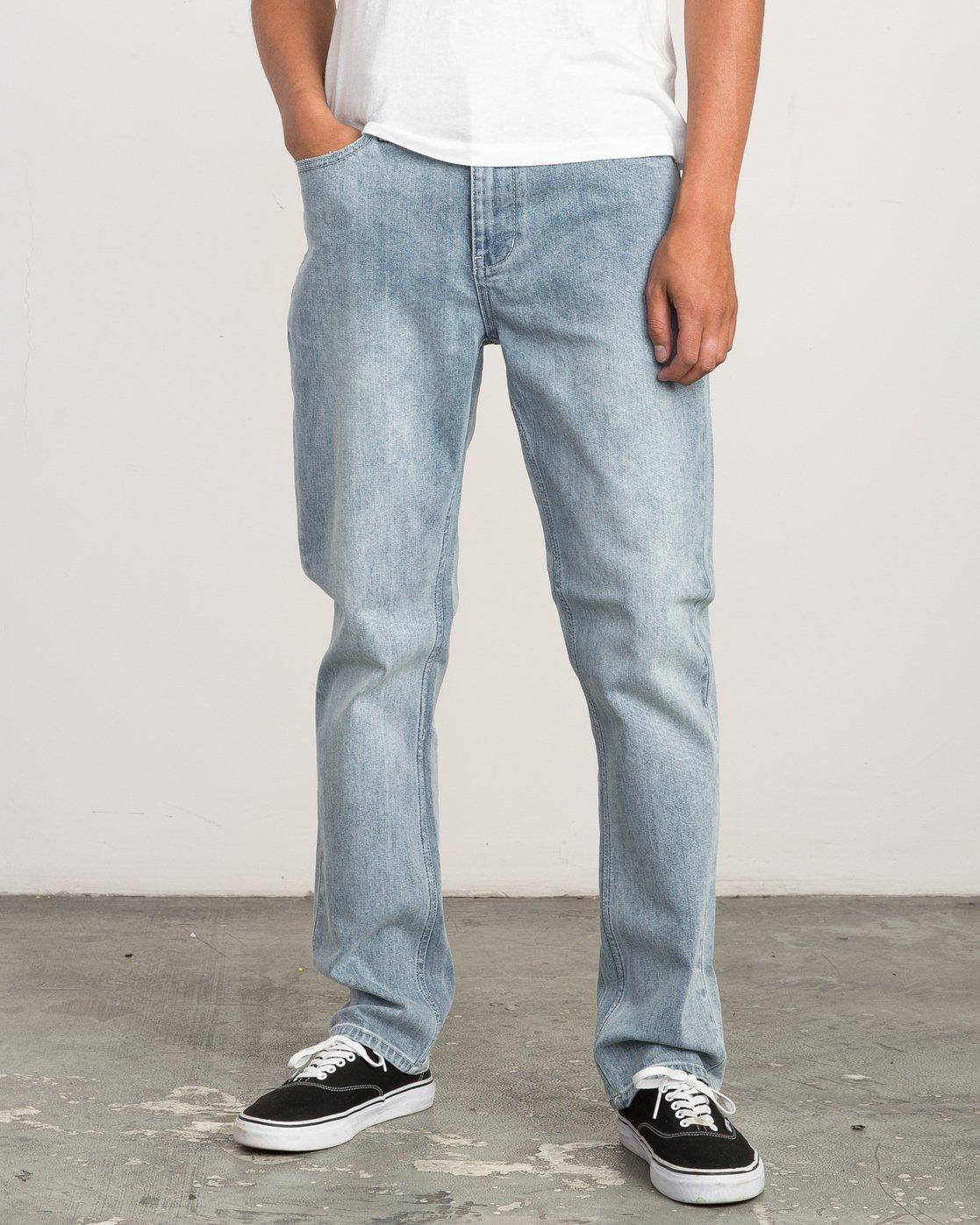 0 Daggers Slim-Straight Jeans Beige L1PNRJRVF8 RVCA