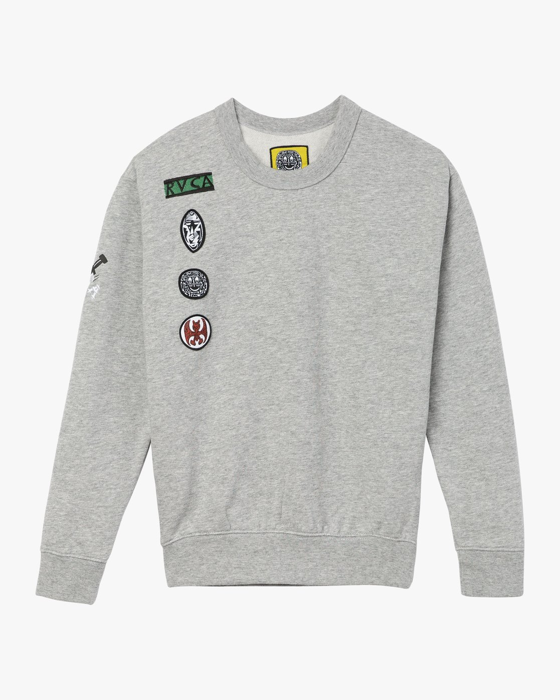 5 GRILLO PATCH CREW Grey L3CRRARVF8 RVCA