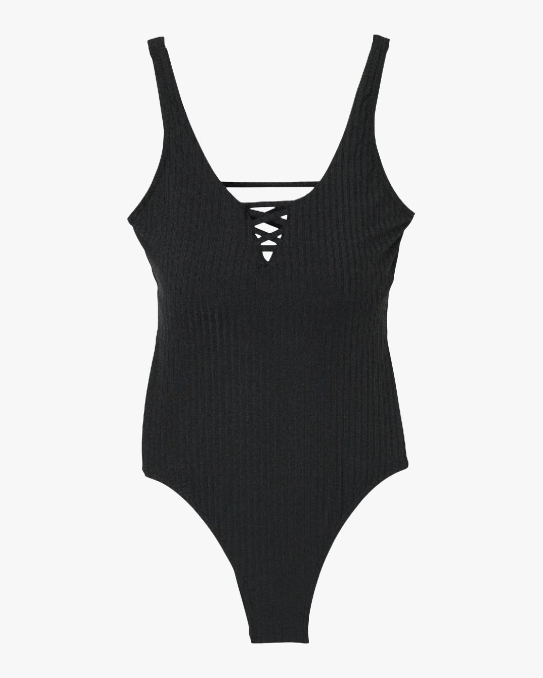 6 ROCKAWAY RIB ONE PIECE Black L3SWRGRVF8 RVCA