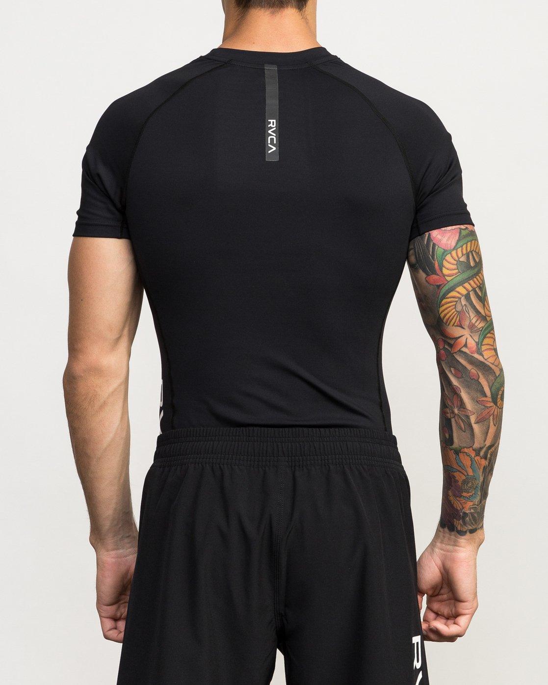 3 Va Performance Short Sleeve Shirt Black L4KTMDRVF8 RVCA